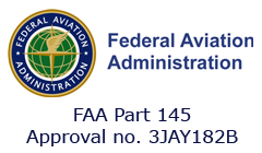 Approved FAA part-145 Organization